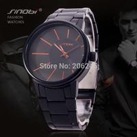 New Fashion Sinobi Brand Men Full Steel Watch Wristwatches Watches Men Luxury Brand Clock Male Quartz Watch Men's Watches