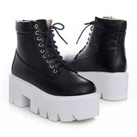 New Women Boots Motorcycle Shoes Botas Femininas Punk Rock Heels Ankle Boots For Women Thick Heel Platform Autumn Shoes SRXZ5002