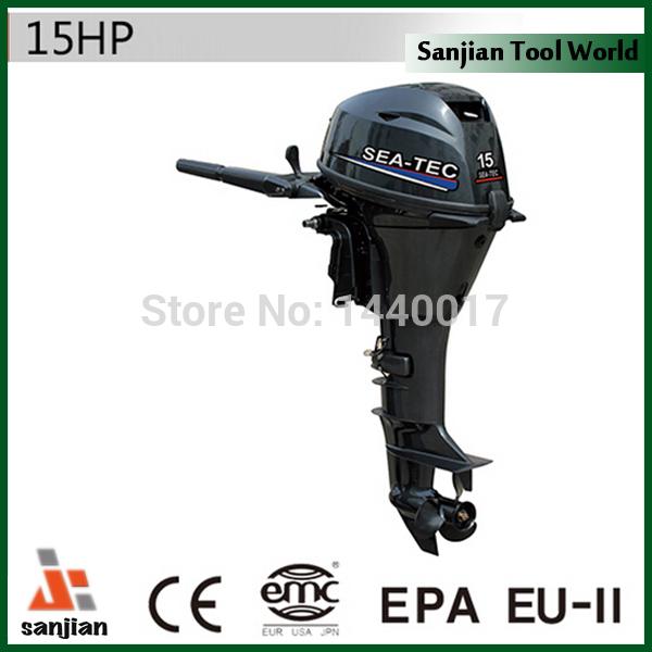 freeshipping 15hp power tec barco a motor de popa motor de refrigeração água tratamento anti-corrosão completa 2 barco ano de garantia(China (Mainland))