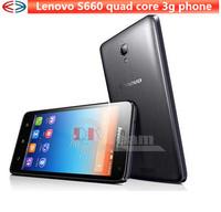 Original Quad Core lenovo s660 MTK6582 4.7 inch mobile phone IPS 3000mah Dual SIM 8MP 1GB + 8GB  Android 4.2 WCDMA In Stock