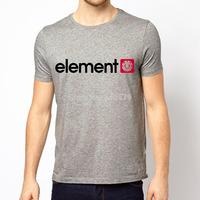 Free Shipping Summer Fashion Element T Shirts Skateboard Streetwear Boy Cotton Men Shirt Short Sleeve O Neck Casual Man Tees