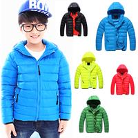NEW 2014 Winter Children duck down jacket boys Down& Parkas Korean style original single kids warm hooded down coat 6-8-10-12yrs