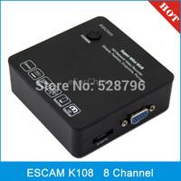 ESCAM K108 ONVIF 8 Channel 1080P/960P/720P Mini White Portable Network Video Recorder NVR, Support Onvif & 3G & Wifi