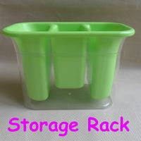 Kitchen Storage Rack Holder Dish Shelf Box Set Plastic Green