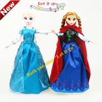HWP NEW Flash Music Frozen dolls Play Frozen theme song (Let it Go) 31 cm Standing Dolls & Accessories
