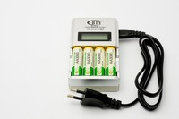 4pcs AA 3000mAh NiMH Ni-MH Rechargeable Battery with white box + BTY-N903 AA /AAA Battery charger Free Shipping