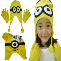 Despicable Me Minions Children Hat & Gloves 2Pieces Set Kids Winter Gloves & Mittens Baby Boys & Girls Hats & Caps