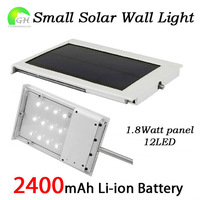 Free Shipping Ultra-Slim All In One Small Solar Panel Powered LED Outdoor Light Garden Solar Outdoor Light Lamp 5pcs/Lot
