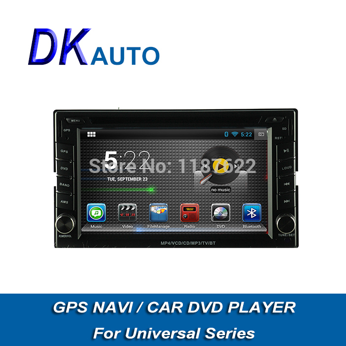Android 2 Din Car DVD GPS Navigation For Universal Dual Core A9 1.6GHz 6.2 Inch Capacitive BT Music RDS Wifi Radio Car Audio(China (Mainland))