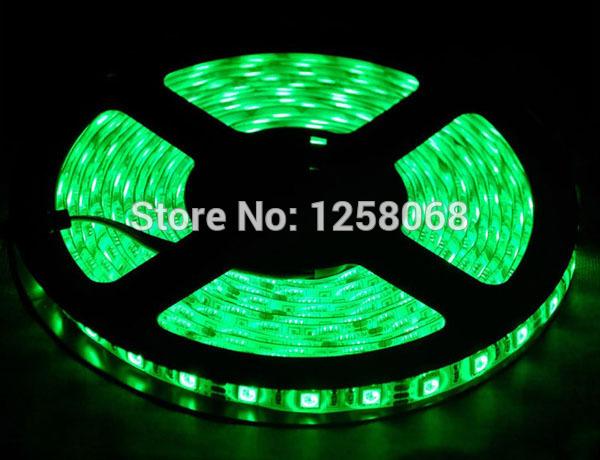 Free shipping 5050 led strip lighting 60led/M DC12V 5M/roll waterproof indoor decoration light flexibled led bar 30m/lot(China (Mainland))