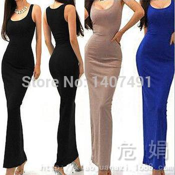 Бесплатная доставка Vestido де феста женские летние рукавов конфеты цвет модальные тонкий длиной до пола пляж свободного покроя длиной макси платье 6544#