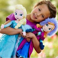 "BIG PROMOTION 50CM Elsa Anna Frozen Dolls Original Plush Dolls Set Toys 19.7"" Big Princess Brinquedos Kids Birthday Party Gift"