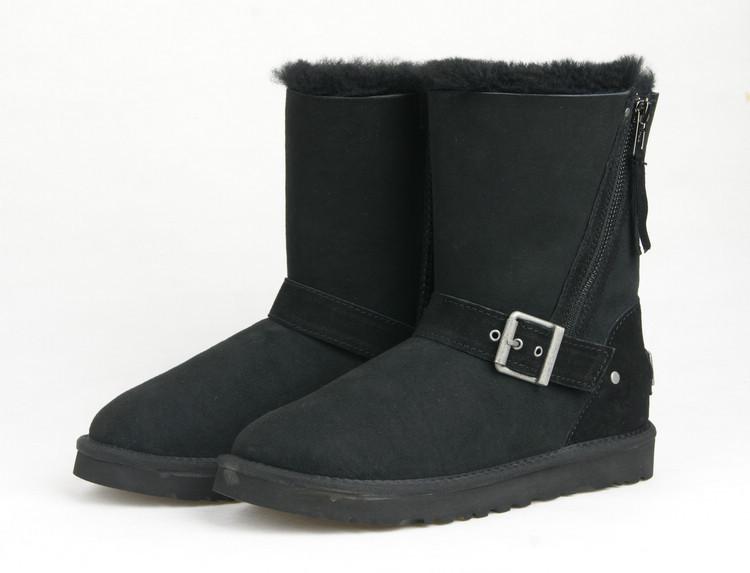 Australia brands women chestnut Blaise Black Winter Boots 1003888 BLK Suede Zipper Buck Harness Buckle winter boots(China (Mainland))