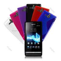 S Line TPU GEL Case Cover for Sony Xperia U ST25i
