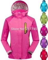Winter 2014 Brand Outerwear Fashion Women's Sports Coats + Bladder + Hoodies Outdoor Ladies Waterproof Climbing Clothes Jackets