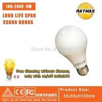 RAYMAX LED 4pcs/Lot chandelier Dimmable bulb E27 Led dimming bulb 110V/220V 9W Led Bulb E27 360 Degree Energy Saving light bulb