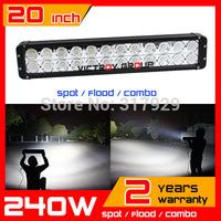 "20.3"" 240W LED Work Light Bar Spot / Flood / Combo IP67 12v 24v Tractor ATV Offroad Fog Light External Light Seckill 120w"