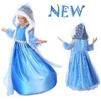 Summer frozen Dress elsa anna princess dresses Girls children clothing christmas cosplay long dress elsa costume baby kids dress