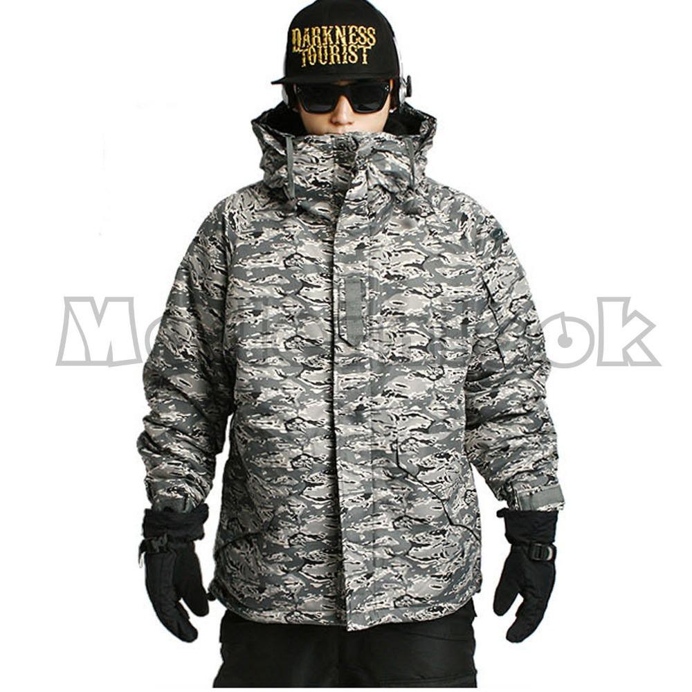 "2015 ""Southplay"" Winter Waterproof Ski Snowboard Gray Military Jacket, Black Pants(China (Mainland))"