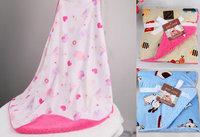 Winter baby blankets newborn pink cartoon animal model baby quilt fleece blanket tapete infantil  carrinho de bebe cobertor
