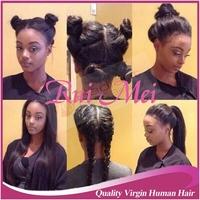 Light Italian Yaki Silk Top full lace Wig 4x4 Yaki Straight Silk Base Wigs Virgin Brazilian Human Hair With Baby Hair