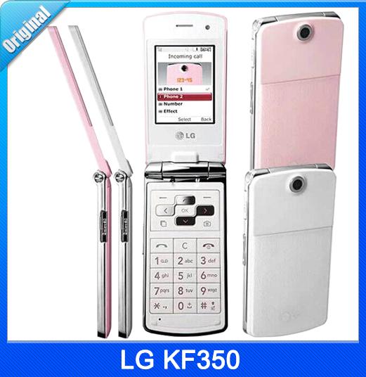 KF 350 Unlocked Original LG KF350 Bluetooth Unlocked Flip Phone Cheap Key Mobile Fast Shipping(China (Mainland))