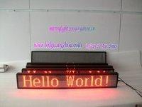P7.62 Dot matrix Indoor LED Moving Sign 16*128 pixels max.2lines text free shipping 5pcs/lot