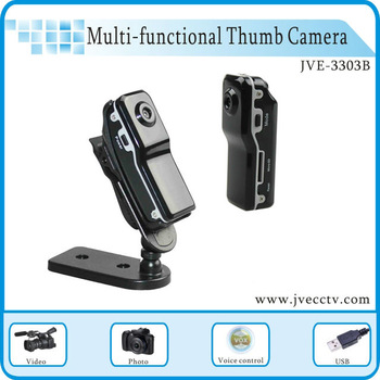 Thumb Recorder Video, Hidden Camera WirelessCamera JVE-3303B Hidden Video Thumb Recorder In Stok CE FCC RoHS