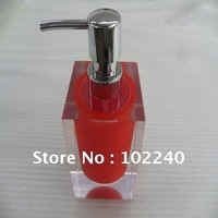 plexiglas/acrylic bottle with stainless steel pump