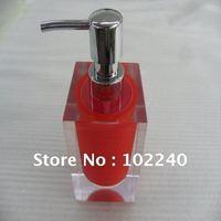plexiglas/acrylic bottle with stainless steel pump