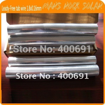 (size:1.8x0.16mm) Leady Precut Solar Tabbing Wires / PV Ribbon, can be cutted into any size, suitable for 125 or 156 solar cells