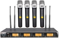 TOP QUALITY UHF 4 channel G-900H Wireless microphone system karaoke, conference microphone Handheld transmitter