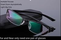 18g light intelligent smart zoom asymptotically multiple focuses bifocal progressive reading glasses  for farsighted hyperopia