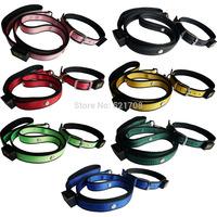 Latest LED pet dog leash collar for big dog leash and collar sets, Adjustable LED dog collar flashing led dog collars and leash