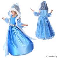 One Pcs!New 2014 Baby girls winter Frozen dress,Children dress warm,kids Long-sleeved elsa dress,Girls Elsa&Anna winter clohting