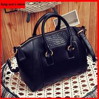 Fashion New  Hot sale  2014 women handbag brief crocodile pattern shoulder bags women messenger bags women leather leather bags