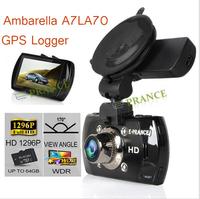 E-prance Original G90S Car Camera DVR Recorder Ambarella A7LA70 GPS Logger 1296P Speed Watermark 170 Degree Night Vision WDR