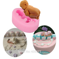 2014 New Food-grade Silicone Mold 3D baby,Fondant Cake Decorating Tools,silicone soap mold,Silicone Cake Mold
