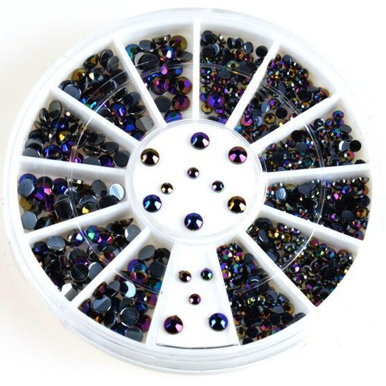 300Pcsd Nail Decoration Acrylic Nail Supplies Gel Tips Charms+Wheel Nail Beads DIY Wholesale(China (Mainland))