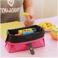 Multifunction Creative Cute Waterproof Large Capacity Pencil  Bag Cosmetic Bag PU Leather School Pencil Case Stationery