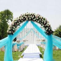 Wholesale 0.75*50M Sheer Mirror Organza Roll Wedding Chair Sash Bow Table Runner Swag Crystal Organza Fabric Free Shipping