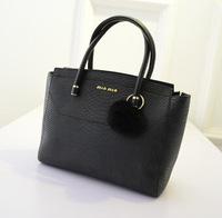 2014 new national wind solid color handbag