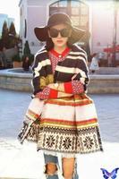 2014 Za New Arrival Winter Women Scarves Imitation Cashmere Snowflake Striped Scarf Spain Brand bufanda manta cuadros 200 * 50cm