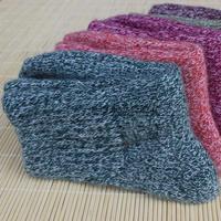 2Pair/Lot High quality Winter socks cashmere women's wool socks thermal thicken socks towel hemming warm socks knitted rabbit