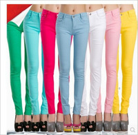 2015 new hot fashion autumn winter women lady girl pencil pants 9 colors solid acetate slim trousers high quality free shipping