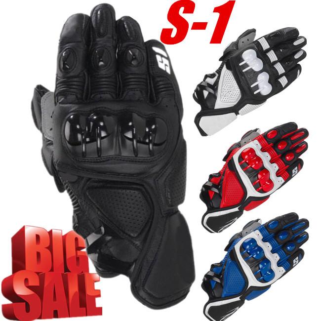 2014 Hot S1 MOTO Motorcycle Racing Gloves Top Leather Black Red White Fashion Motocross Motorbike Guantes Urban Riders Luvas(China (Mainland))