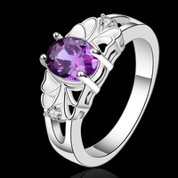 R550-8 Best Selling On Sale 925 Silver stamp amethyst fashion finger ring 925 lady Woman anneau / anel / anneau / anillo