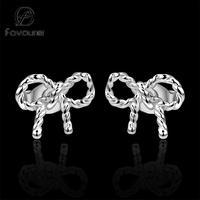 E578 2014 New Design 925 silver knot earrings women fashion high quality Ohrring/boucle/brinco/pendiente