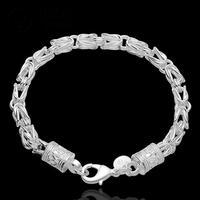 H096 Chain New Arrival Latest Women chic Design 925 silver Stamp bracelet Factory pulseira / pulsera