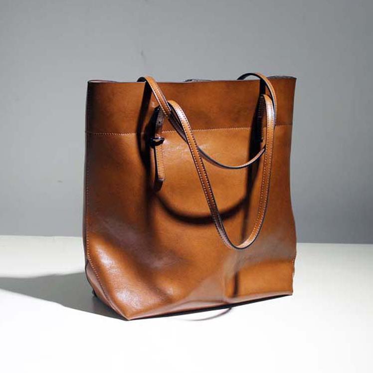 Hot! Genuine Leather Ladies Bag New Style Oil Wax Women Handbag Fashion 2015 Women Leather Handbag Joker Shoulder Bag Big Tote(China (Mainland))